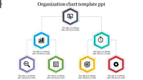 organization chart template ppt Hexagonal model