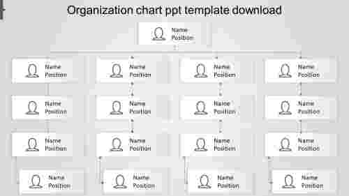 Attractive organization chart ppt template download