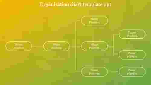 organization chart template PowerPoint flow design