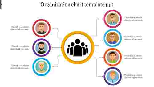 organization chart template PowerPoint circular model