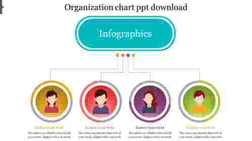 Infographics model organization chart PowerPoint template download
