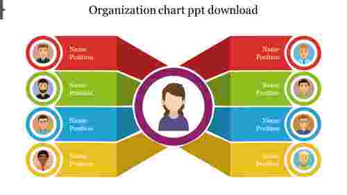 Infographics design for organization chart template ppt