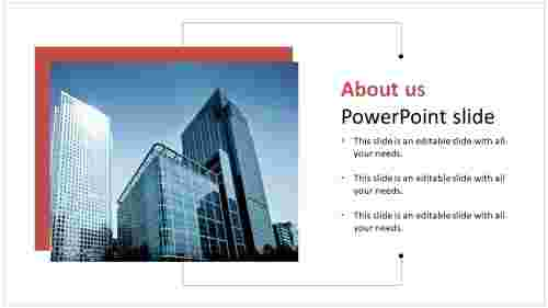 Simple about us powerpoint slide