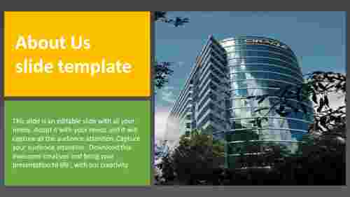 Simple and editable about us slide template