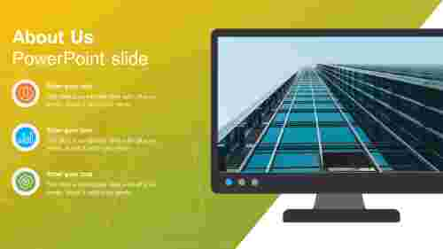 about us powerpoint slide desktop design