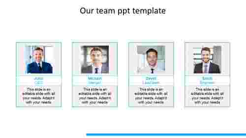 our team ppt template model