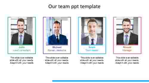 Benefits of our team ppt template