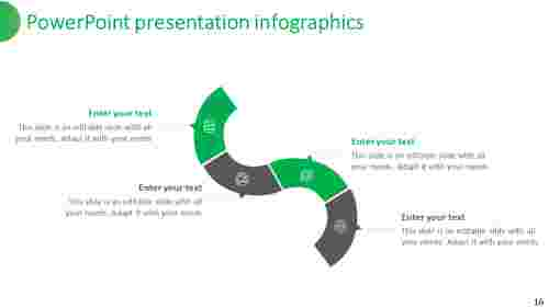 powerpoint presentation infographics serpentine design