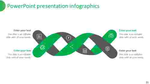 powerpoint presentation infographics connected model