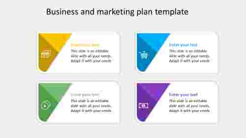 business marketing template with light background
