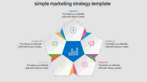 Modern and simple marketing strategy template