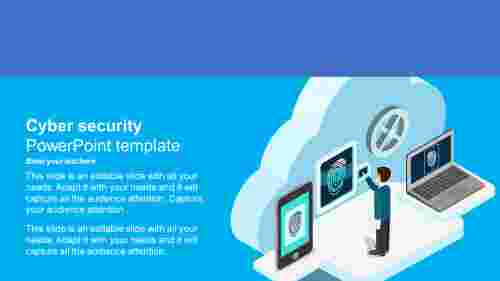 cyber security powerpoint template with background