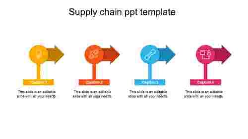 supplychainppttemplatearrowmodel