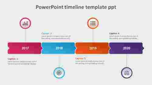 AttractivePowerPointtimelinetemplatePPT