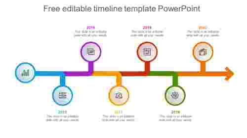 Free editable timeline template power point presentation for clients