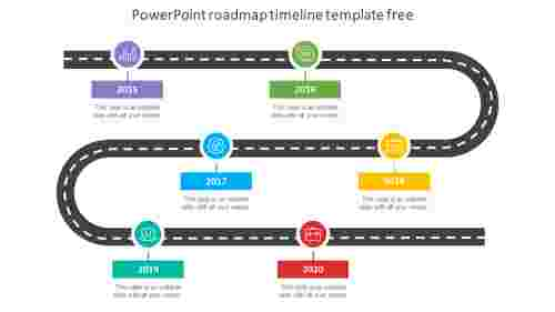Simple powerpoint roadmap timeline template free