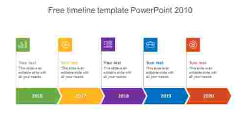 Company Free Timeline Template Powerpoint 2010