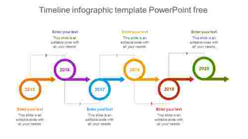 Timeline infographic template PowerPoint free process