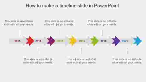 howtomakeatimelineslideinpowerpointarrowdesign