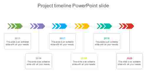 Company project timeline powerpoint slide