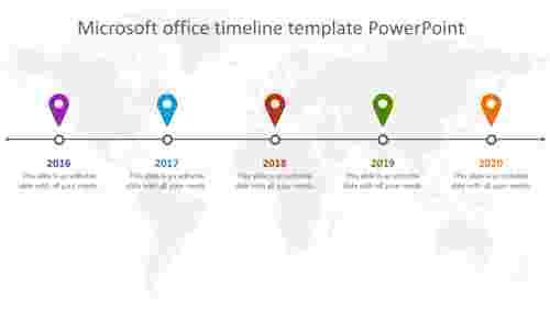 microsoft office timeline template powerpoint slide
