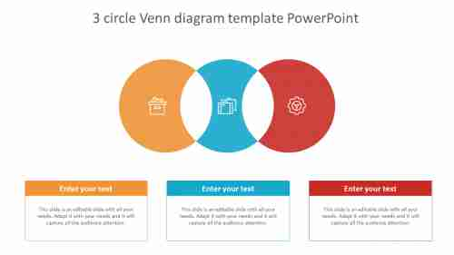 3 circle venn diagram template powerpoint for business