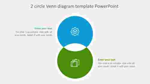 2 circle venn diagram template powerpoint slide
