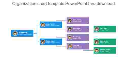 Simple organization chart template powerpoint free download