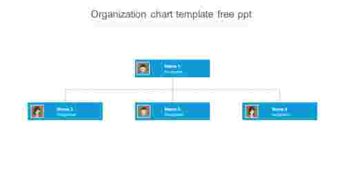 Simple organization chart template free ppt
