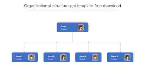 organizational structure ppt template free download design for customers
