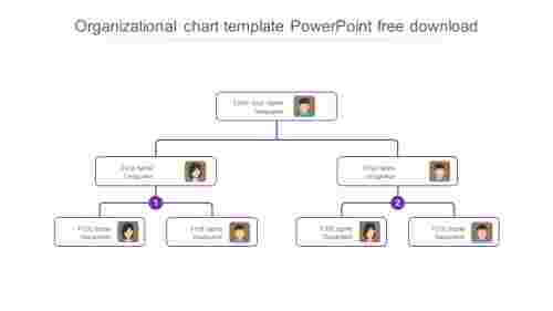 organizational chart template powerpoint free download model