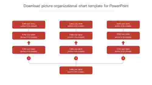 download picture organizational chart template for powerpoint slide
