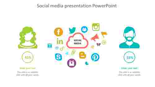 Simple social media presentation powerpoint