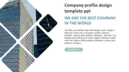Diamond model company profile design template ppt