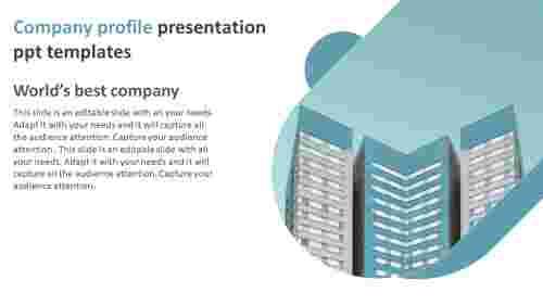 Simple company profile presentation ppt templates