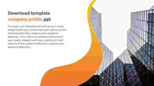 Editable download template company profile ppt