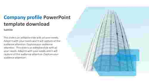 company profile powerpoint template download design