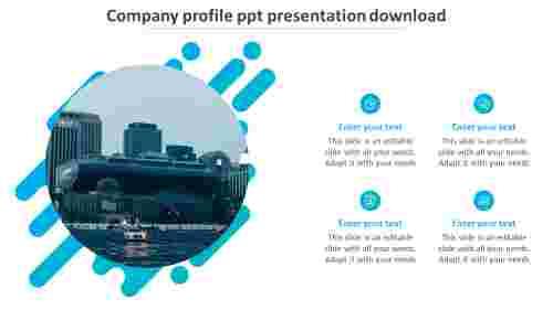 company profile ppt presentation download slide