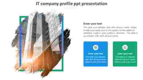 it company profile ppt presentation slide
