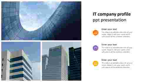 it company profile ppt presentation portfolio model