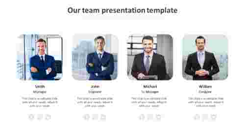 our team presentation template design