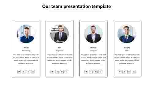 our team presentation template slide
