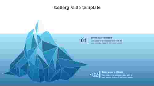iceberg slide template