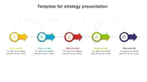 Simple template for strategy presentation