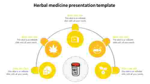 Herbal medicine presentation template-yellow