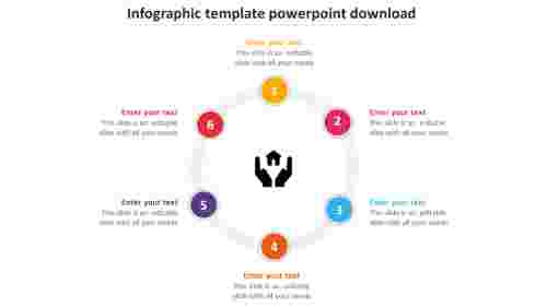 infographic template powerpoint download circular model