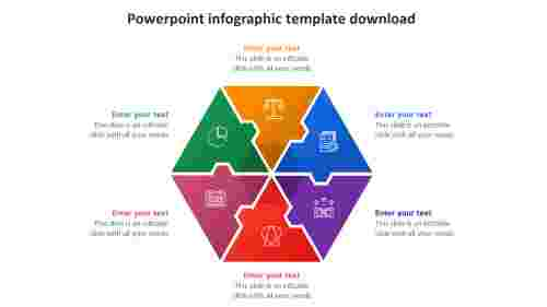 powerpoint infographic template download hexagonal design