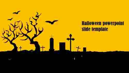 Halloween PowerPoint Slide Template Model