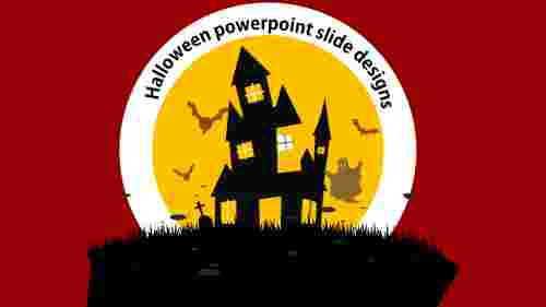 Model halloween powerpoint slide designs