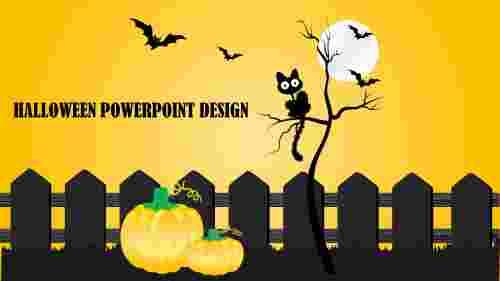 Modelhalloweenpowerpointdesign